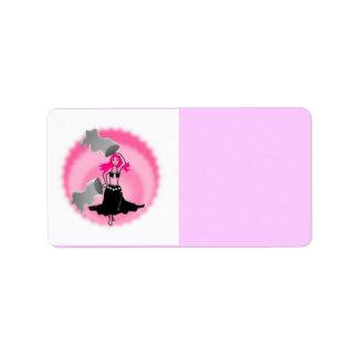 etiquete a dança do ventre cor-de-rosa cigano trib etiqueta de endereço