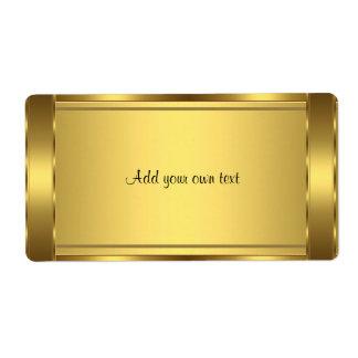 Etiquete o ouro da etiqueta grande
