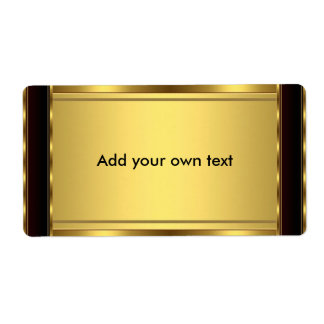 Etiquete o preto & o ouro da etiqueta grandes