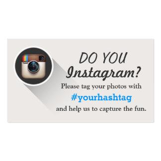 Etiquete seus cartões de visitas de Hashtag das