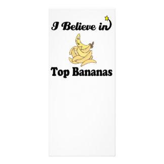eu acredito em bananas superiores modelo de panfleto informativo