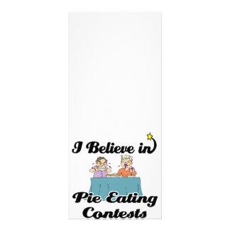 eu acredito em competições comer da torta 10.16 x 22.86cm panfleto