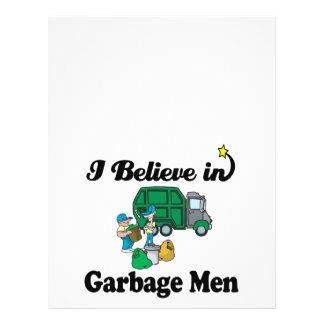 eu acredito em homens de lixo panfletos coloridos
