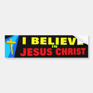 Eu acredito em Jesus Adesivo Para Carro
