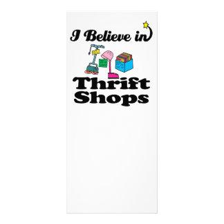 eu acredito em lojas de parcimônia 10.16 x 22.86cm panfleto