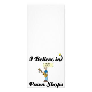 eu acredito em lojas de penhor 10.16 x 22.86cm panfleto