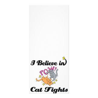 eu acredito em lutas de gato planfeto informativo colorido