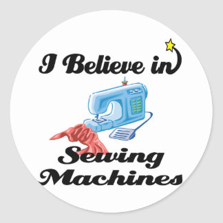 eu acredito em máquinas de costura adesivos em formato redondos