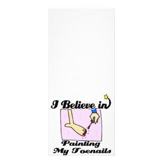 eu acredito em pintar meus toenails modelo de panfleto informativo