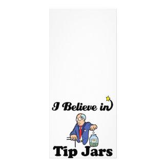 eu acredito em uns frascos da ponta 10.16 x 22.86cm panfleto