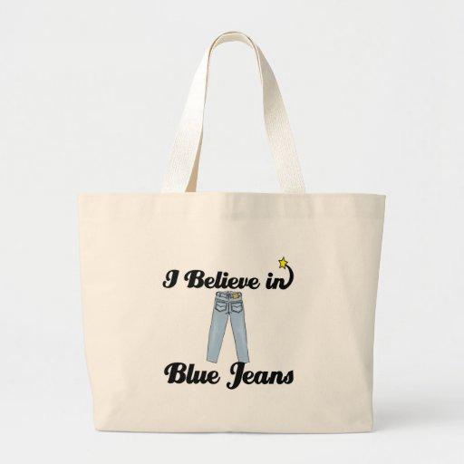 eu acredito na calças de ganga bolsas