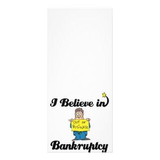 eu acredito na falência 10.16 x 22.86cm panfleto
