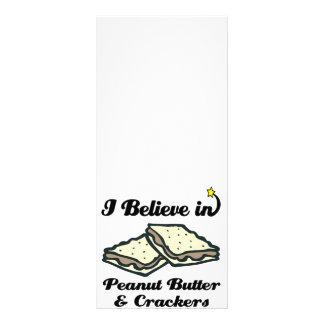 eu acredito na manteiga e nos biscoitos de amendoi 10.16 x 22.86cm panfleto