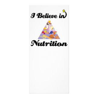 eu acredito na nutrição 10.16 x 22.86cm panfleto