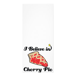 eu acredito na torta da cereja 10.16 x 22.86cm panfleto