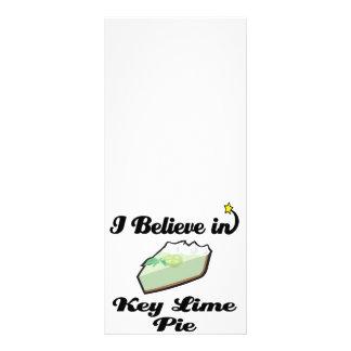 eu acredito na torta do limão chave 10.16 x 22.86cm panfleto