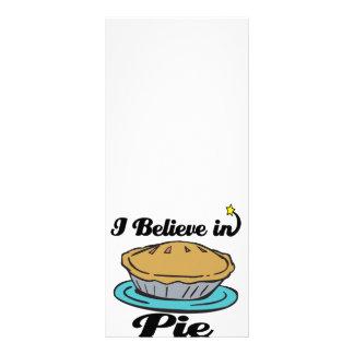 eu acredito na torta 10.16 x 22.86cm panfleto