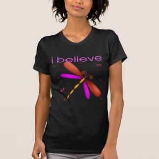 Eu acredito nas libélulas camiseta