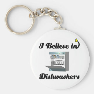 eu acredito nas máquinas de lavar louça chaveiro
