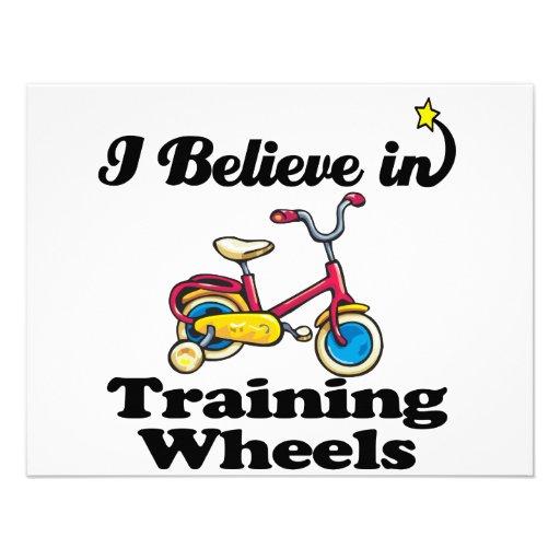 eu acredito nas rodas de treinamento convites