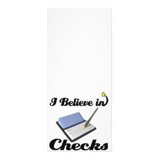 eu acredito nas verificações 10.16 x 22.86cm panfleto