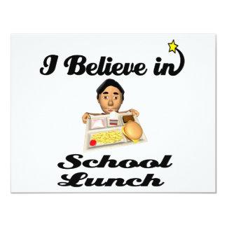 eu acredito no almoço escolar convites personalizados