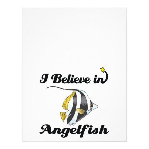 eu acredito no angelfish panfletos personalizados