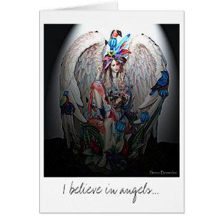 Eu acredito no cartão dos anjos