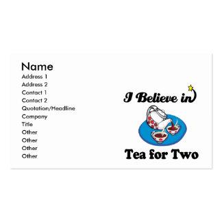 eu acredito no chá para dois modelo cartões de visitas
