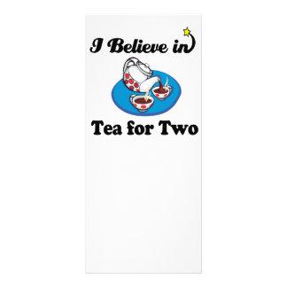 eu acredito no chá para dois panfleto informativo