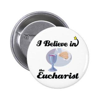 eu acredito no Eucaristia Bóton Redondo 5.08cm
