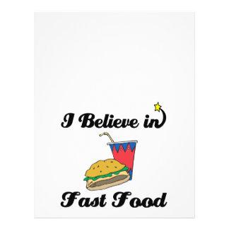 eu acredito no fast food panfleto personalizado
