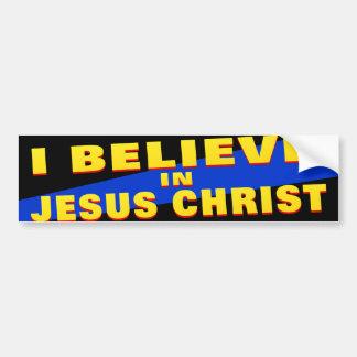 Eu acredito no Jesus Cristo Adesivo Para Carro