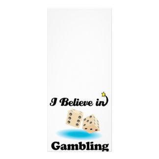 eu acredito no jogo 10.16 x 22.86cm panfleto