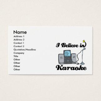 eu acredito no karaoke cartão de visitas