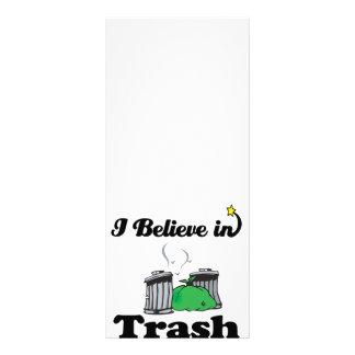 eu acredito no lixo 10.16 x 22.86cm panfleto