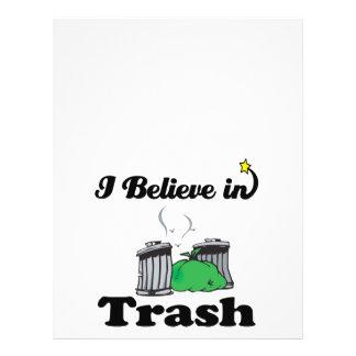 eu acredito no lixo panfleto personalizado