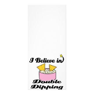 eu acredito no mergulho dobro 10.16 x 22.86cm panfleto
