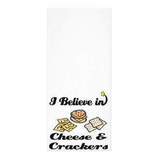 eu acredito no queijo e nos biscoitos 10.16 x 22.86cm panfleto