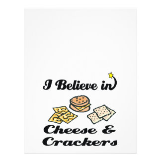 eu acredito no queijo e nos biscoitos panfleto personalizados