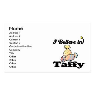 eu acredito no taffy cartão de visita