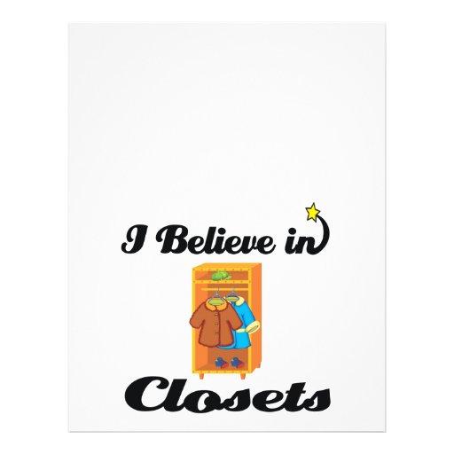 eu acredito nos armários panfletos coloridos