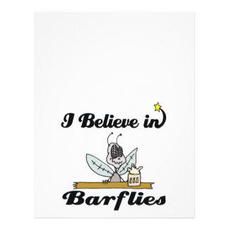 eu acredito nos barflies modelo de panfletos
