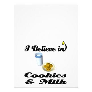 eu acredito nos biscoitos e no leite panfletos coloridos