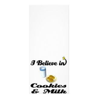 eu acredito nos biscoitos e no leite 10.16 x 22.86cm panfleto
