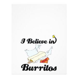 eu acredito nos burritos panfleto coloridos