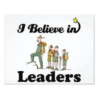 eu acredito nos líderes convites
