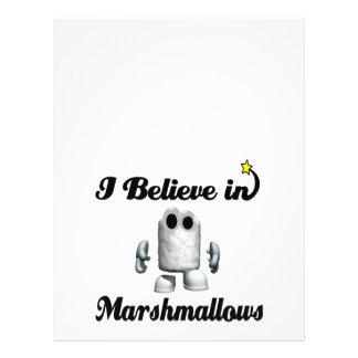 eu acredito nos marshmallows panfleto personalizado
