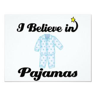 eu acredito nos pijamas convites personalizado