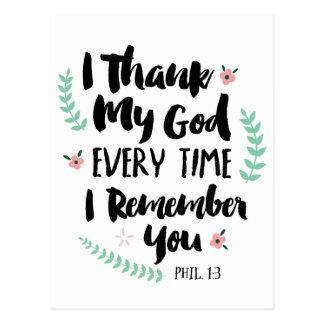 Eu agradeço a meu cartão do deus